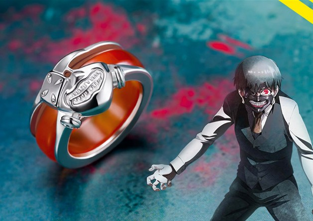 Anime Tokyo Ghoul Kaneki Ken Ring 925 Sterling Silver in Rings