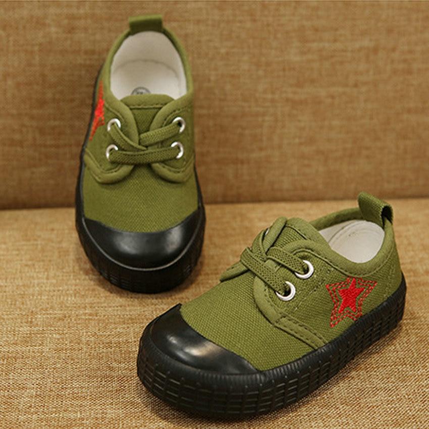 Купить с кэшбэком Baby Boy Shoes For 2 Years Camouflage Frenulum Children's Canvas  Baby Shoes 2019 New Style