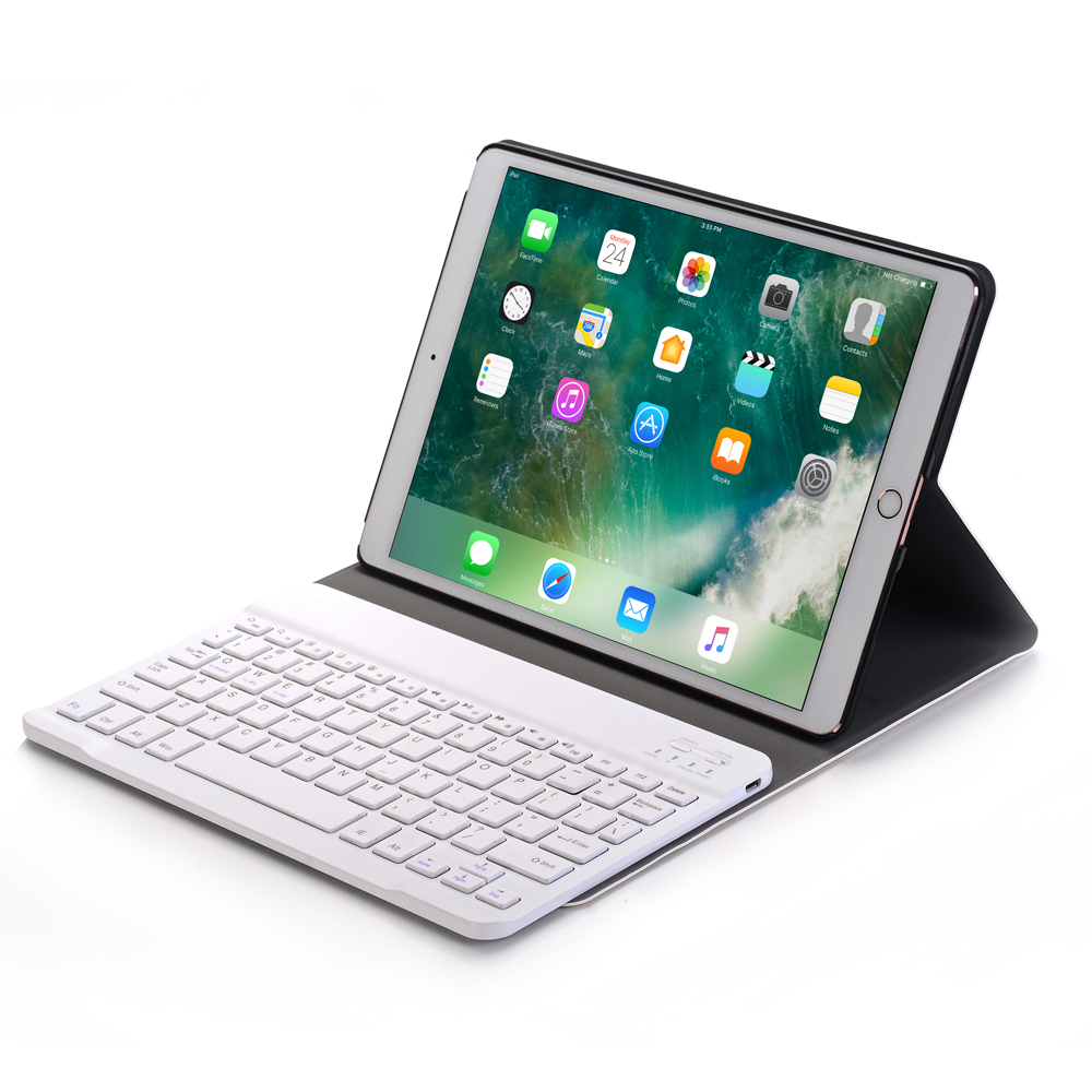 High-Quality Case for iPad 9.7 2017/iPad Air 2 1 PU Leather Cover for iPad Pro 9.7 with Bluetooth Keyboard Smart Protector Stand title=