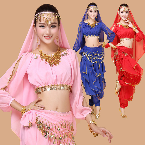 4pcs Belly Dance Costume Woman Bollywood Indian Dress Performance Bellydance Tribal Dancing Sets In From Novelty