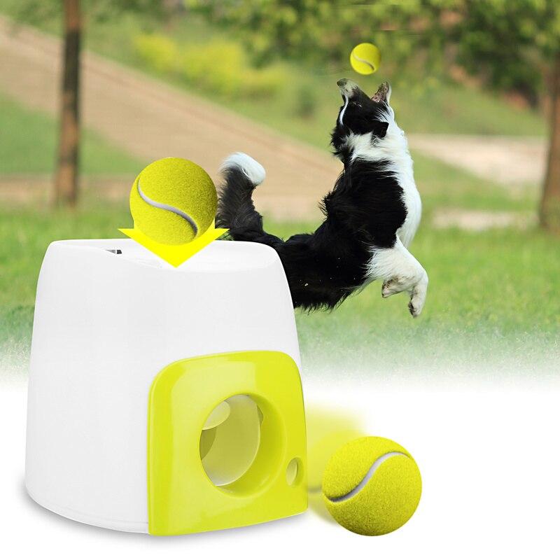 Haustier Hund Spielzeug Automatische Interaktive Ball Launcher Tennis Ball Rollen Heraus Maschine Starten Holen Bälle Dog Training Tool