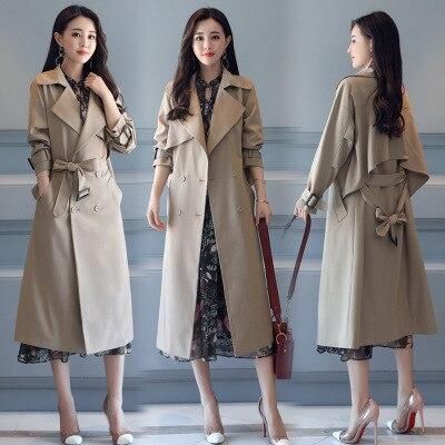 Marque Double 2 De Manteau Vêtements Femme Automne Couture Nouvelle Haute 1 Imperméable Breasted Tranchée Classique Qualité Affaires 6aT8IwxItq