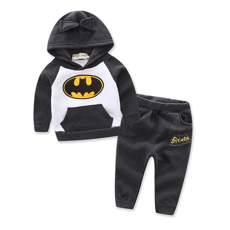 Children Batman Hoodie Clothing Suits Kids Hoodie Pants 2 Pcs Children Batman
