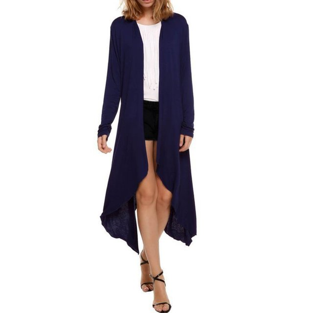 Maxi Cardigan Feminino Thin Sweater Coat Women Knitted Long Sleeve ...