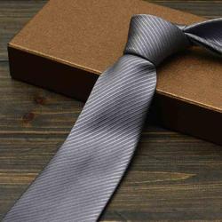 Новый дизайнер модного бренда 2018 галстук для Для мужчин тонкий 8 см Повседневное одноцветное Цвет Бизнес Свадебные Жених вечерние Для