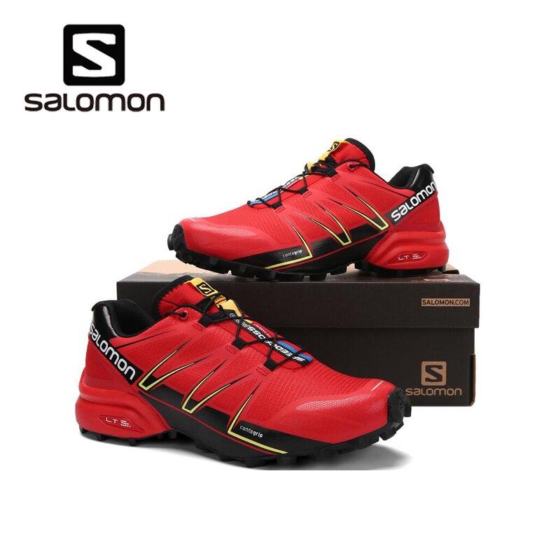 Salomon Speed Cross 5 Speedcross Pro anti-glissement baskets de course pour hommes En Plein Air cool chaussures lumineuses Run breathablesize 40-46