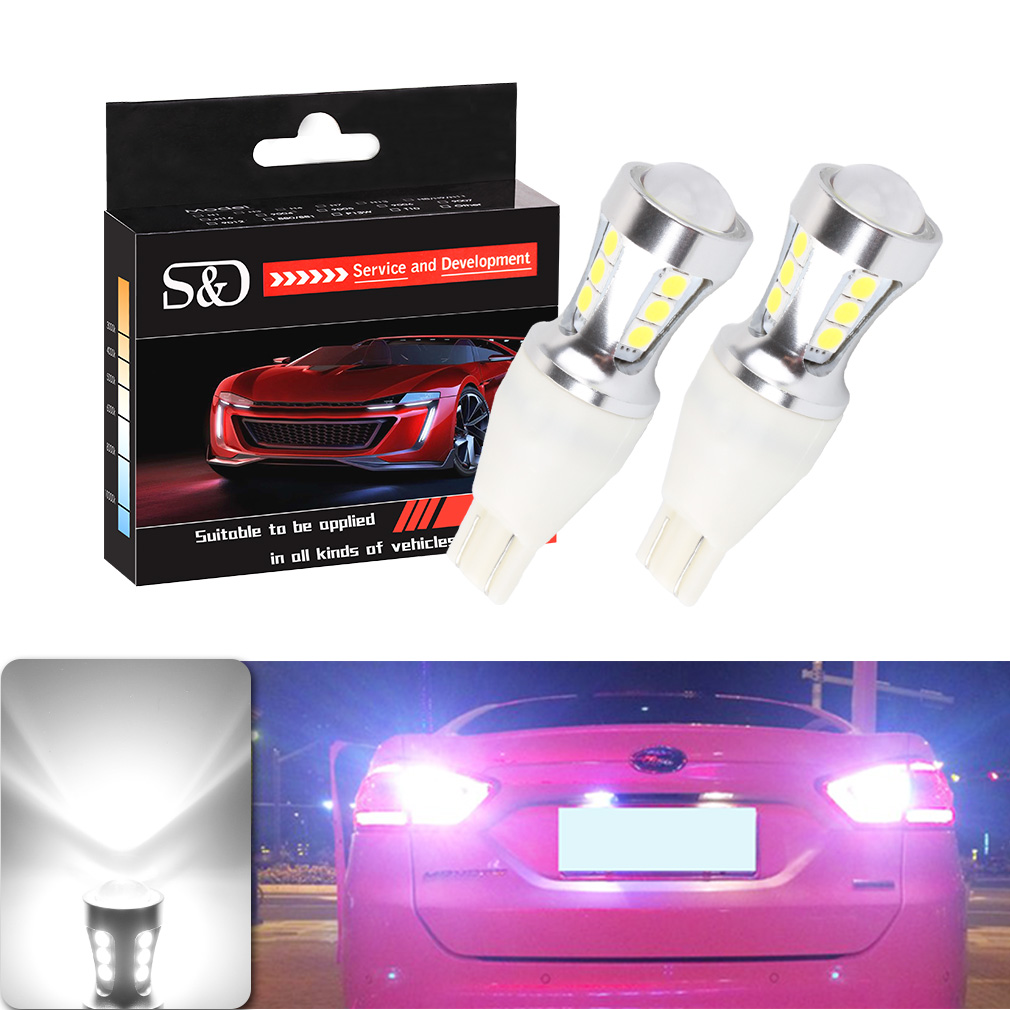 2pcs 1000Lm W16W T15 LED Bulbs Canbus OBC Error Free LED Backup Light 921 912 W16W LED Bulbs Car reverse lamp Xenon White D030 цена