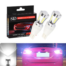 2pcs 1000Lm W16W T15 LED Bulbs Canbus OBC Error Free LED Backup Light 921 912 W16W LED Bulbs Car reverse lamp Xenon White D030(China)