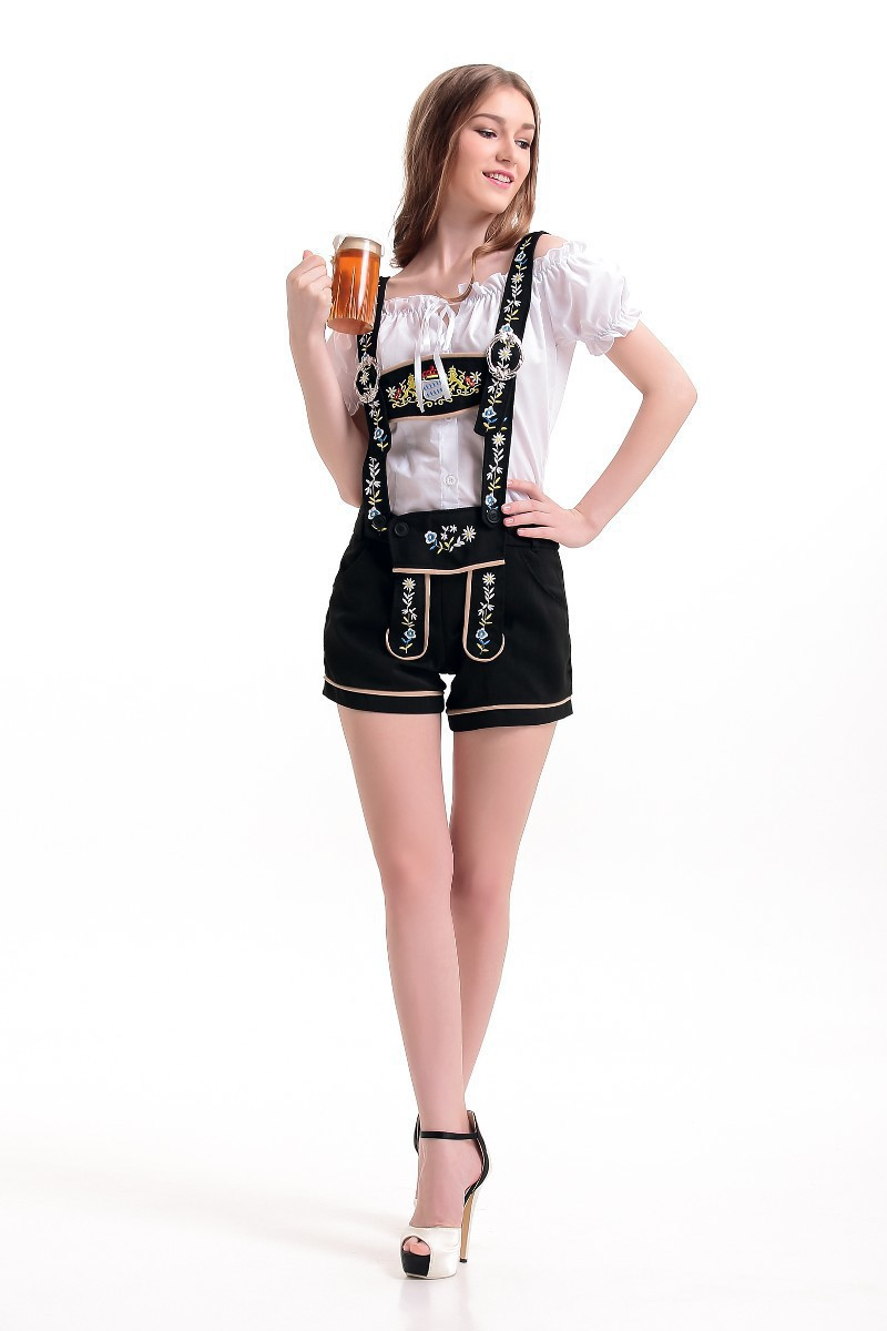 Halloween font b cosplay b font costume German Munchen Beer Festival Clothes Female Maid Beer girl