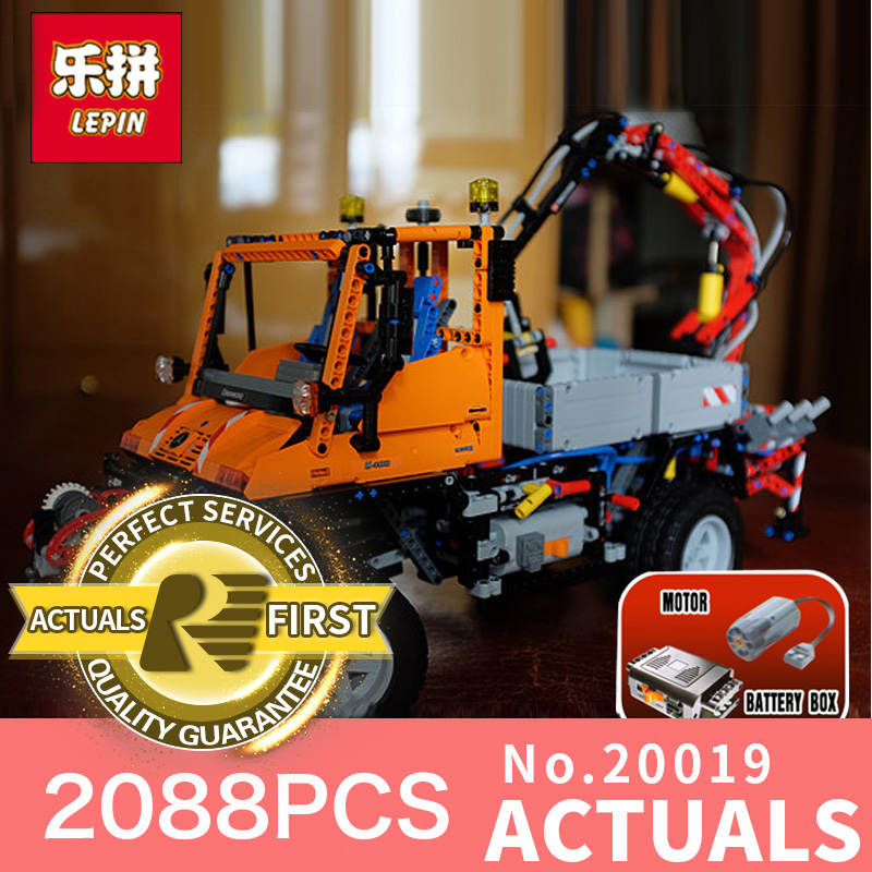 2088Pcs Lepin 20019 Technic Ultimate Series The Mechanical Truck unni monk Set Educational Building Blocks Bricks Toys 8110 lepin 20076 technic series the mack big