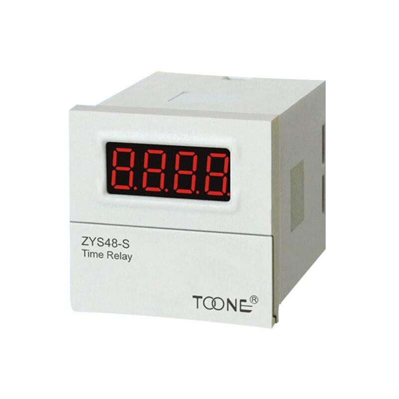 ZYS48-S DH48S-S Digital Timer Time Delay Relay 110V 220V 380V AC 24V 12V DC 0.1S - 99H 8 Pins with Base Socket стоимость