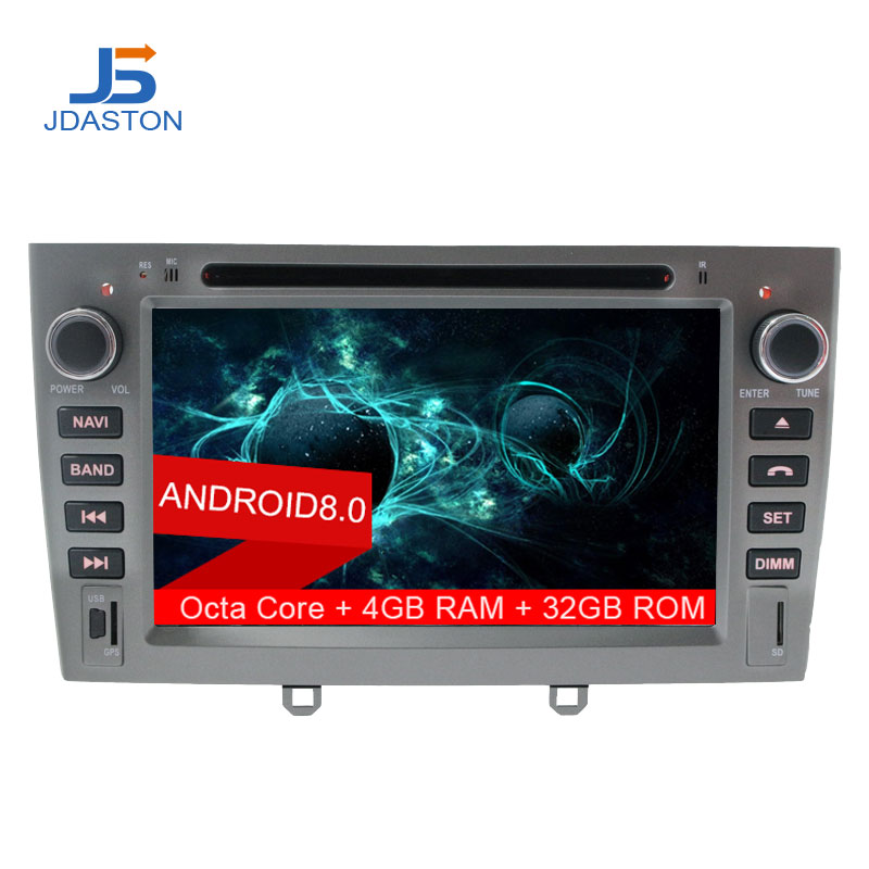 JDASTON Android 8.0 2 Din Car Radio For PEUGEOT 408 308 Octa Cores 4G+32G GPS Navi Car multimedia Stereo DVD CD Audio Radio IPS