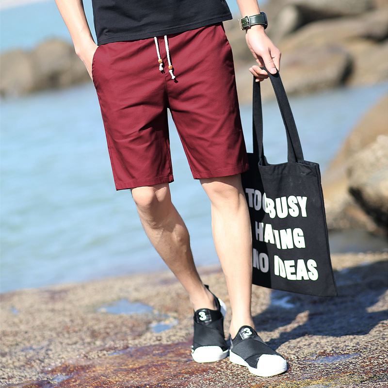 Quality Shorts Men Casual Short Pans Comfortable Pure Color Shorts Knee Lenght Streetwear Poplar Breathable Material Short Pans