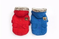 New Coming Two Legs Hooded Design Pet Dogs Coat With Bear Label Free Shiping By CPAM