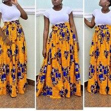 Новая африканская Женская юбка пасторальный стиль Цифровая печать Высокая талия винтажные юбки Повседневные женские BS018