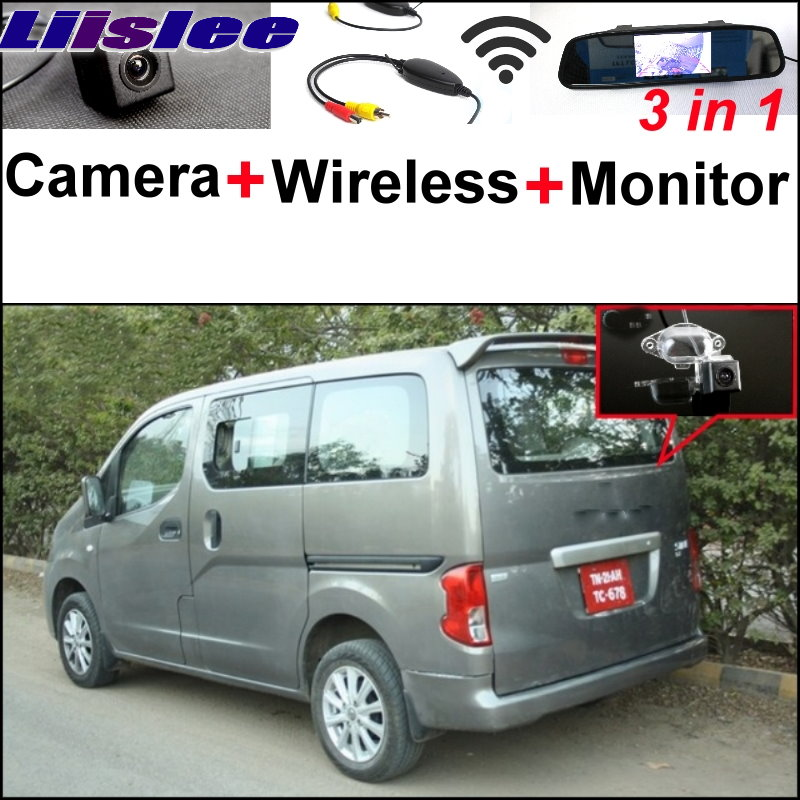 Liislee 3 in1 Rear View Special Camera + Wireless Receiver + Mirror Monitor Easy Back Up Parking System For Ashok Leyland Stile 3 in1 special rear view camera wireless receiver mirror monitor easy diy back up parking system for dacia duster