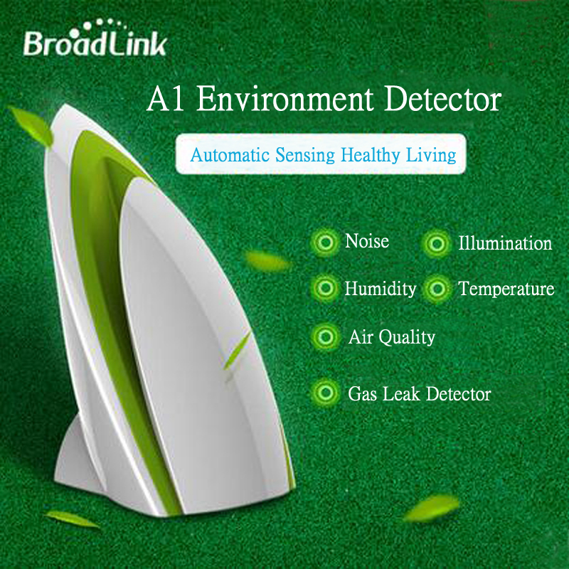 Broadlink a1, smart home sensor, temperatur luftfeuchtigkeit sensor, air qualität licht gas...