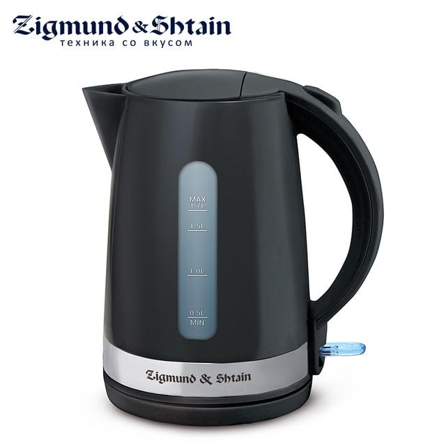 Zigmund & Shtain KE-618 Электрический чайник, 2200 Вт, 1,7 л, Съемный фильтр, Автоотключение, Отсек для хранения шнура, Светодиодная подсветка кнопки включения, Поворотная база на 360°