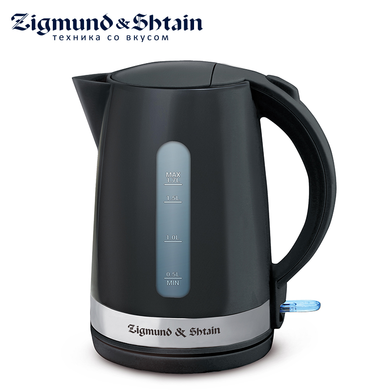 Zigmund & Shtain KE-618 Electric Kettle 2200W 1.7L Removable filter Auto shut-off when boiling Water level scale 3 stage prefilter ionized antioxidant water filter replacement