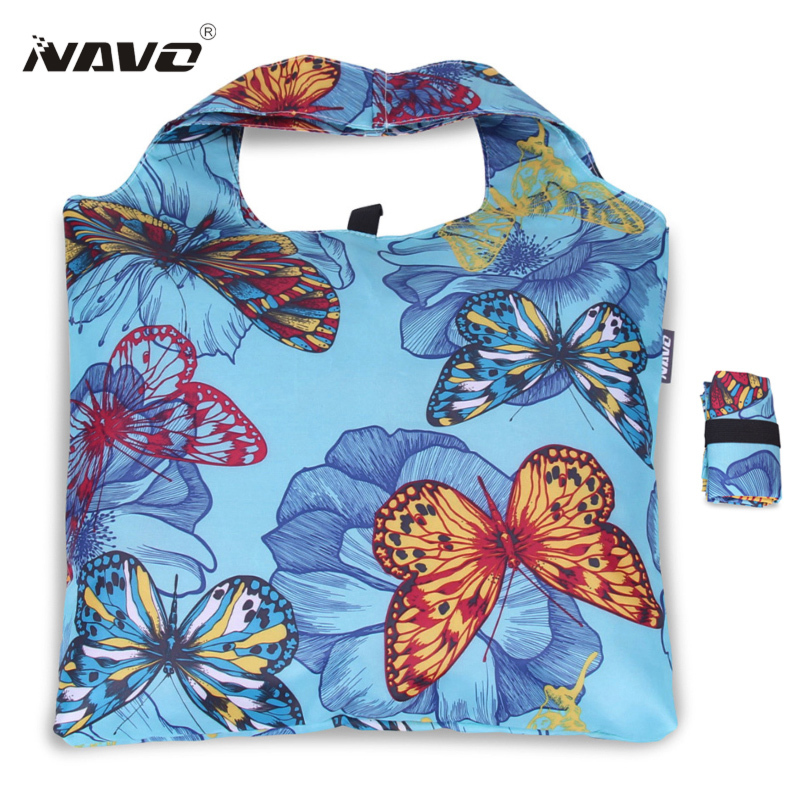 NAVO folding shopping bag butterfly big shopper reusable tote bags shopping grocery bag household bag boodschappentas Xmas gift