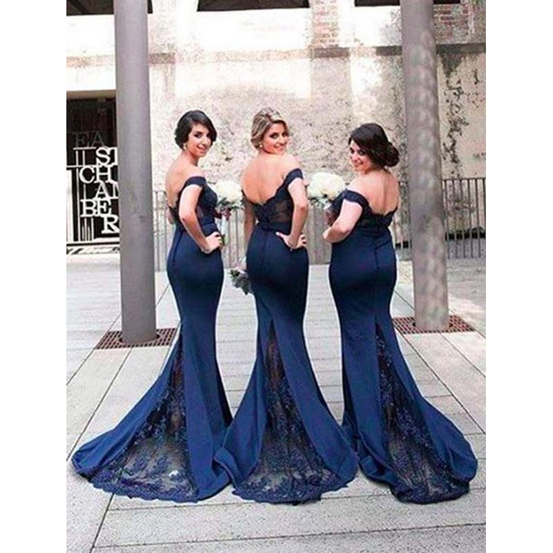 Compra Azul Marino Vestidos De Dama De Honor Online Al Por