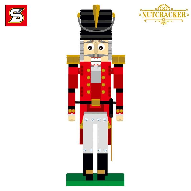 Nowy SY 7046 ww2 przyjaciółmi dziadek do orzechów drewna personelu żołnierzy kompatybilny Legoinglys 4002017 Diy klocki zabawki prezent na Boże Narodzenie w Klocki od Zabawki i hobby na  Grupa 2