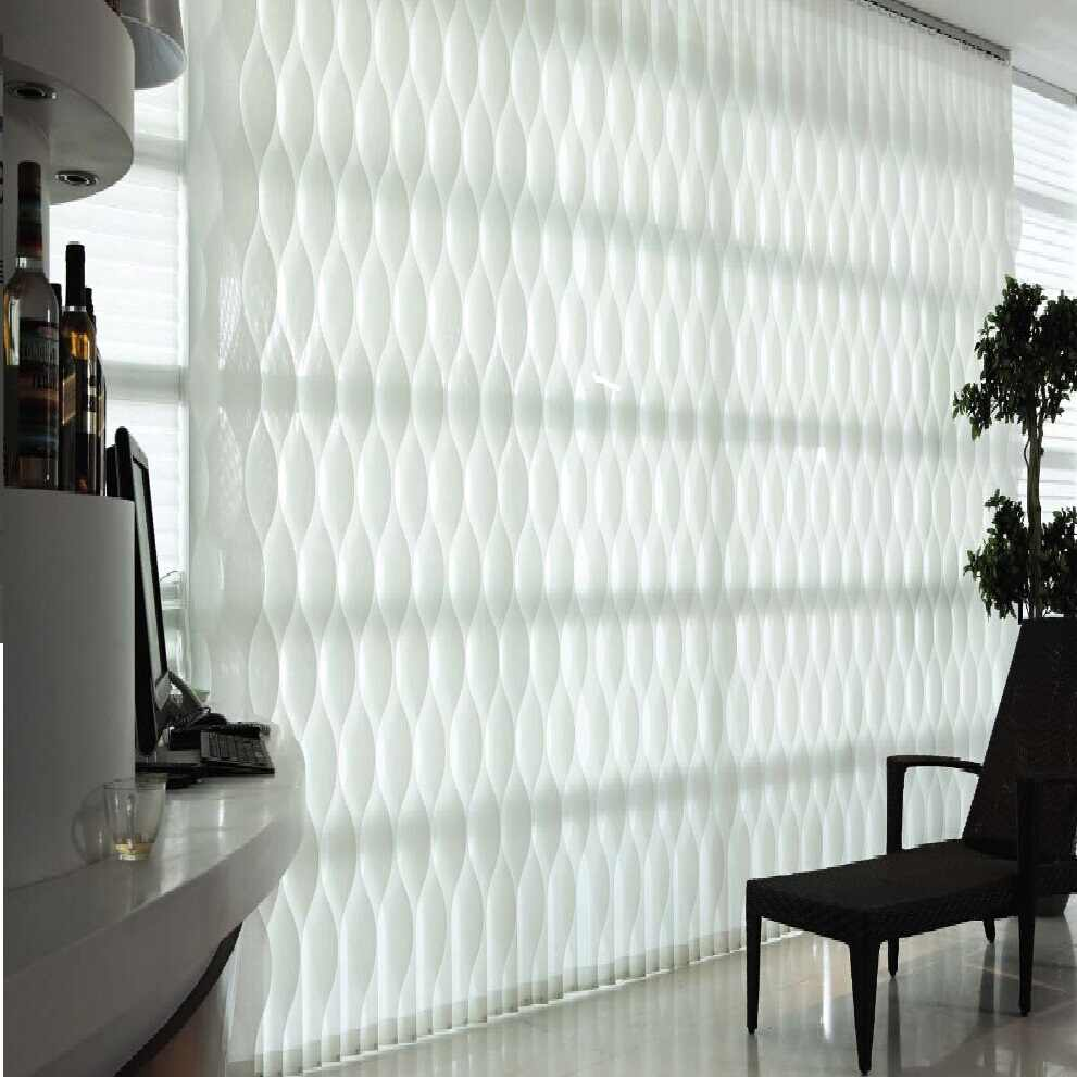 Manual /electric curves S wave sunscreen vertical blinds curtain customize sizes