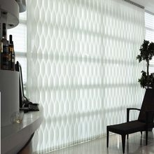 Manual /electric curves S wave sunscreen vertical blinds curtain customize sizes(China)