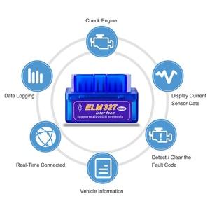 Image 4 - Real ELM327 V 1,5 ELM 327 Bluetooth OBD2 v1.5 Android coche escáner automotriz OBD 2 Auto OBDII de la herramienta de diagnóstico mejor V2.1