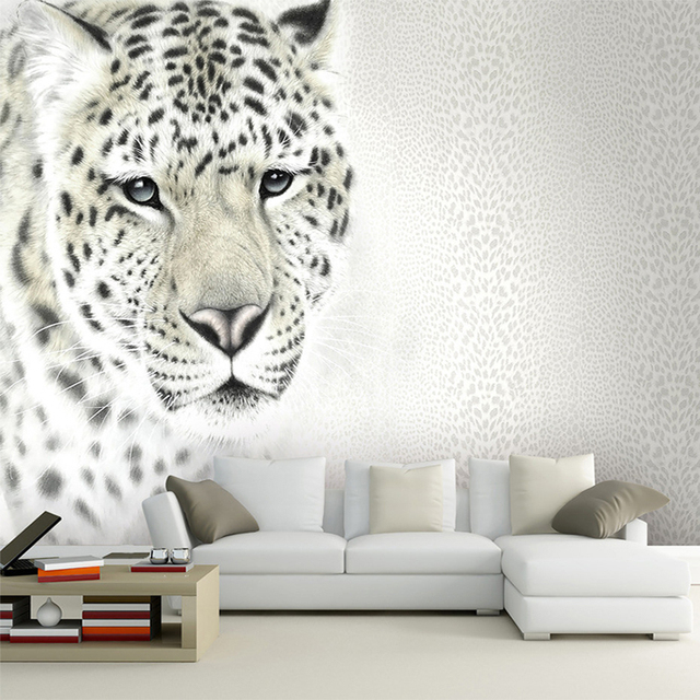 Custom Bedroom Wallpaper Designs Lifelike Animals Leopard Wall Mural For Kids Tv Backdrop