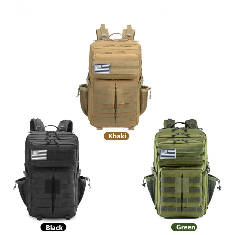 Plein air alpinisme chasse sport sac à dos tactique Camouflage sac Camping randonnée solide couleur multi-fonction grande capacité - 4