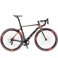 オリジナルのx-フロントブランドフルカーボンファイバー自転車ロードバイク18 20 22速度は700cc * 23c Shiman0レーシングbicicletaライト黒赤自転車