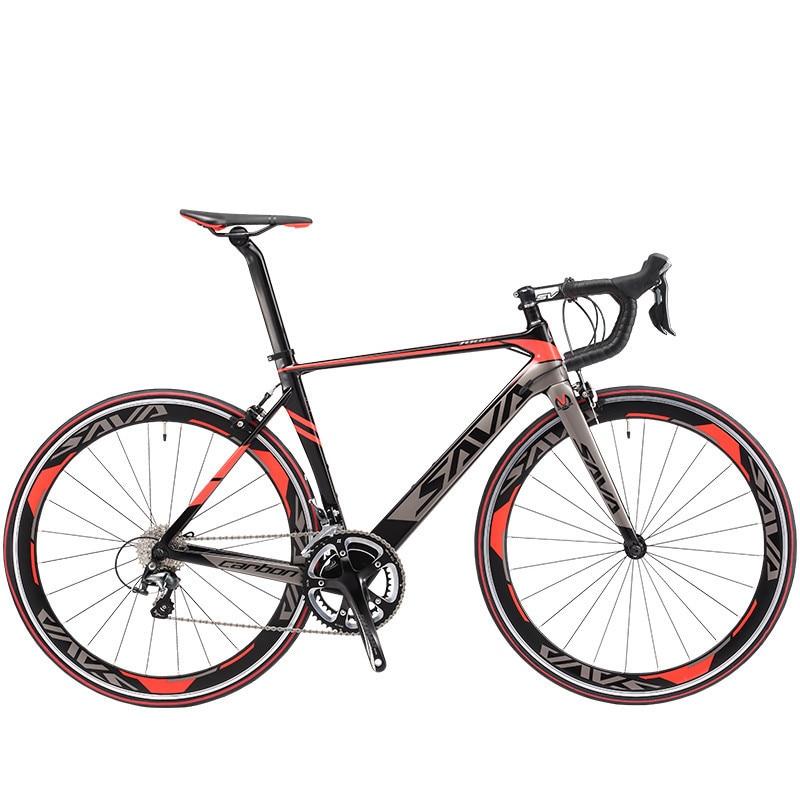 Originální silniční kolo X-Front plné uhlíkové vlákno 18 20 22 rychlost 700cc * 23C závodní bicicleta světle černá červená kolo