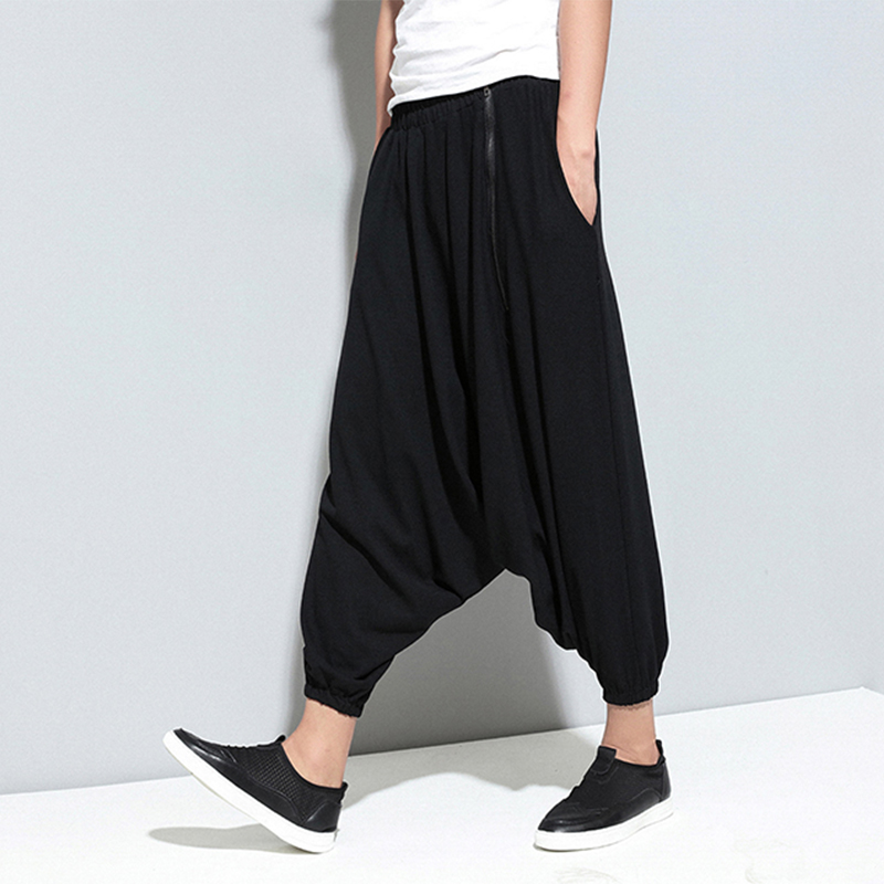 Pants Fashion Clothing Nine-Point-Pants Singer Stylist Men's New Hair Casual Costumes