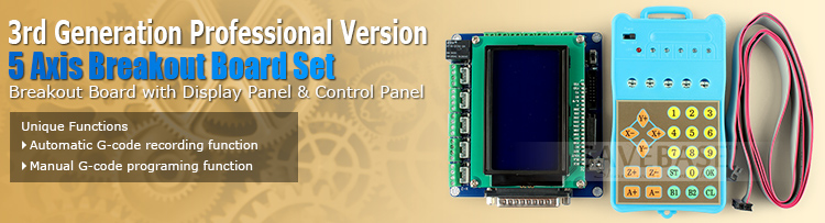 HTB13VQGGVXXXXXAXpXXq6xXFXXXD - SAVEBASE Upgrade 5Axis Professional Version CNC Breakout Board + LCD Display + Handle Controller Gcode Store