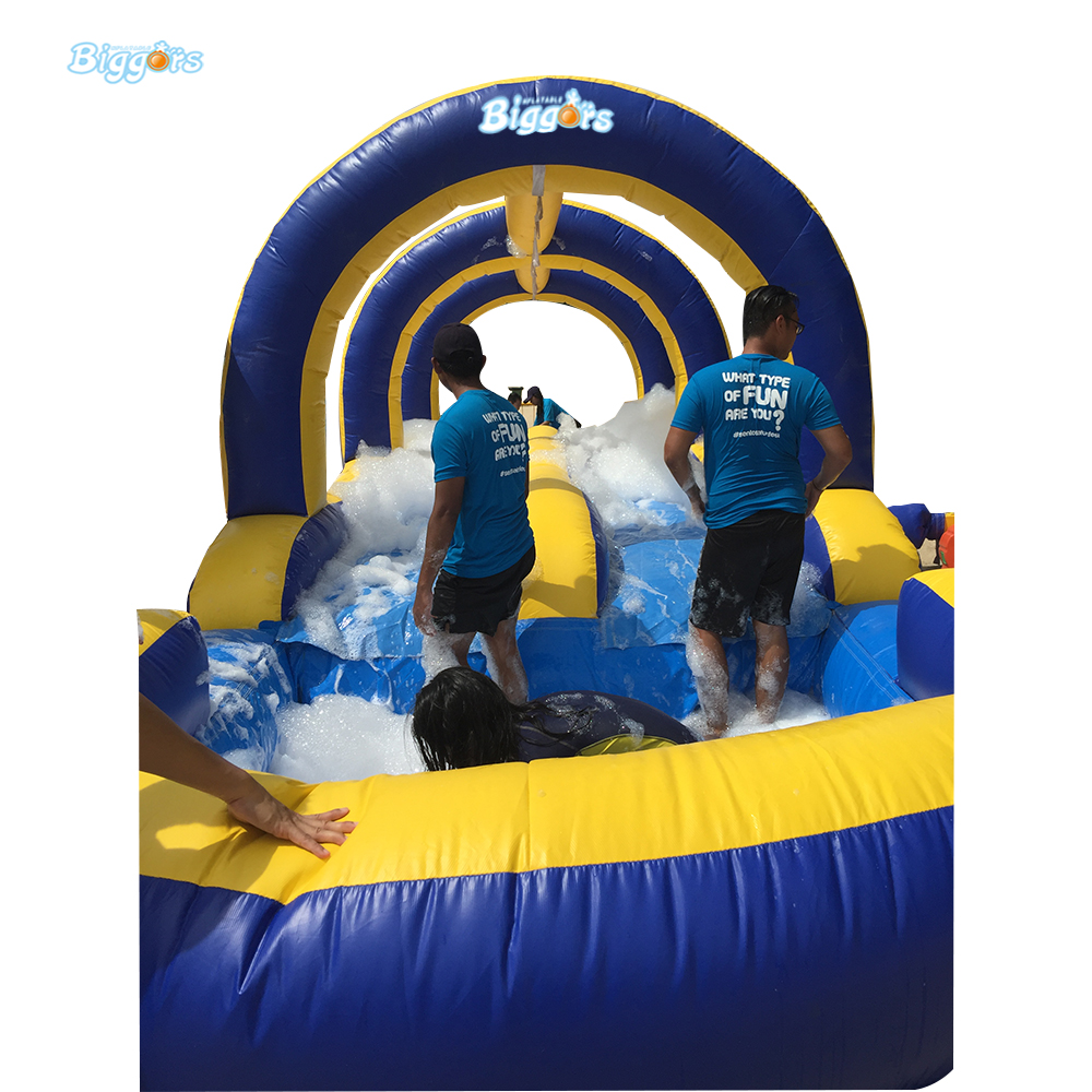 FREE SHIPPING BY SEA High Quality Inflatable Obstacle Course With Inflatable Slide For Adult free sea shipping commercial obstacle course run races inflatables with air blowers for sale