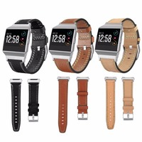 Leather Strap Band For Fitbit Ionic Watchband For Fitbit Ionic Replacement Wrist Strap Bands
