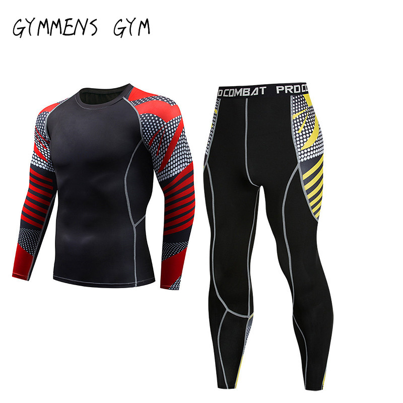 New Men Compression MMA Rashguard PANTS Fitness Base Layer Skin Tight Weight Lifting Mma Fight Sportswear Gym Clothing Men