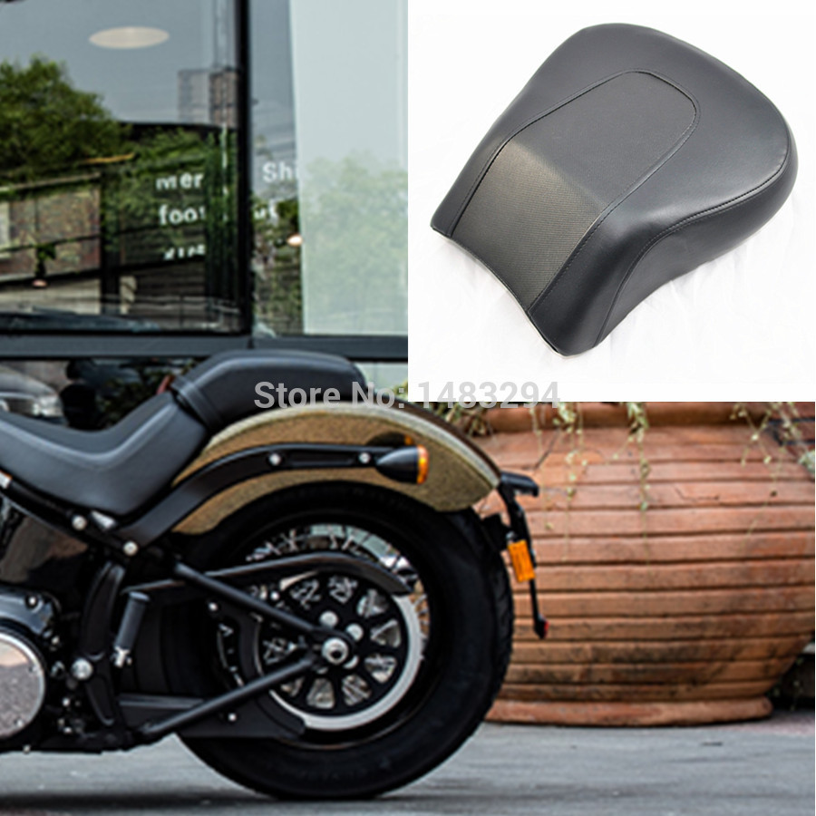Rear Pillion Passenger Seat Fits For Harley Davidson Softail Fat Boy FLSTF 2008-2014 motorcycle chrome fender tips trailing edge rear wheel tire shell cover for harley softail fat boy fatboy flstf flstfb mbt236