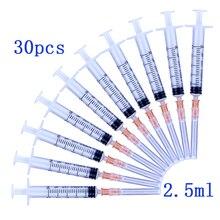 2 мл одноразовый пластиковый промышленный шприц с иглами 2,5 мл 3 мл стерильный инжектор, 30 шт