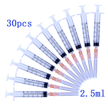 Disposable Plastic Industry Syringe with Needles 2.5ml 3ml sterile Injector,30pcs