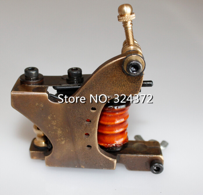 Professional brass wire 8 wraps liner manual handmade Cast brass frame Tattoo Machine Gun professional welding wire feeder 24v wire feed assembly 0 8 1 0mm 03 04 detault wire feeder mig mag welding machine ssj 18