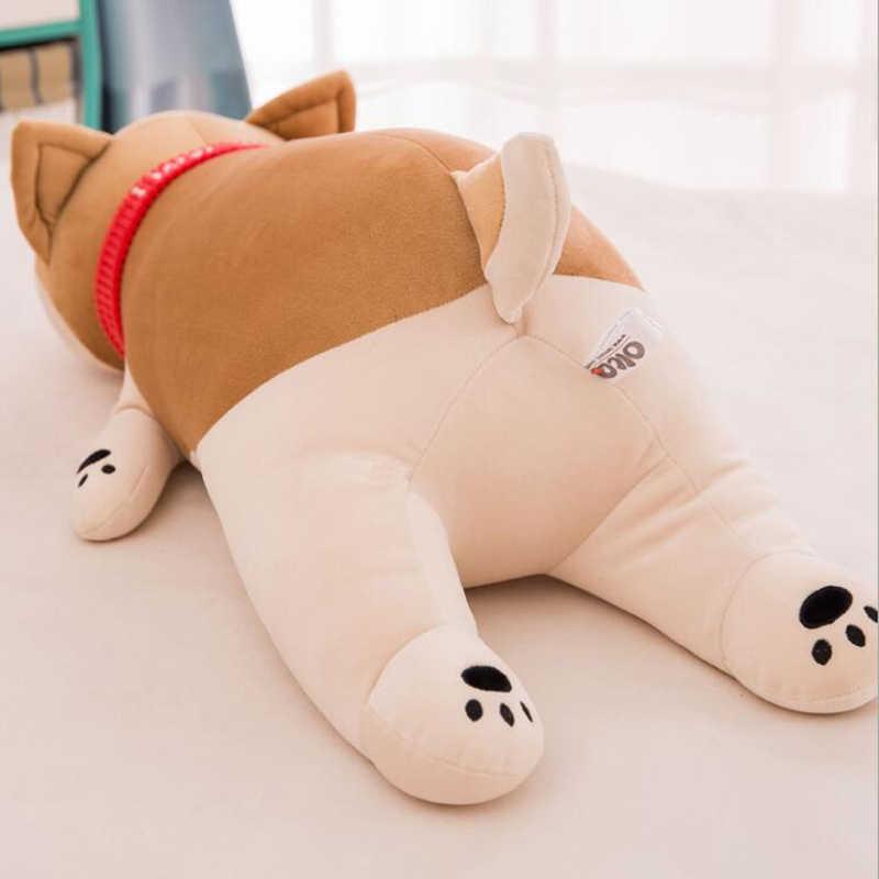 جديد لطيف 50 سنتيمتر 80 سنتيمتر كبيرة الحجم الكلب ألعاب من القطيفة دمى محشوة لينة جميلة الطفل الاطفال هدية غرفة أريكة تزيين الوسائد شيبا Inu Pet