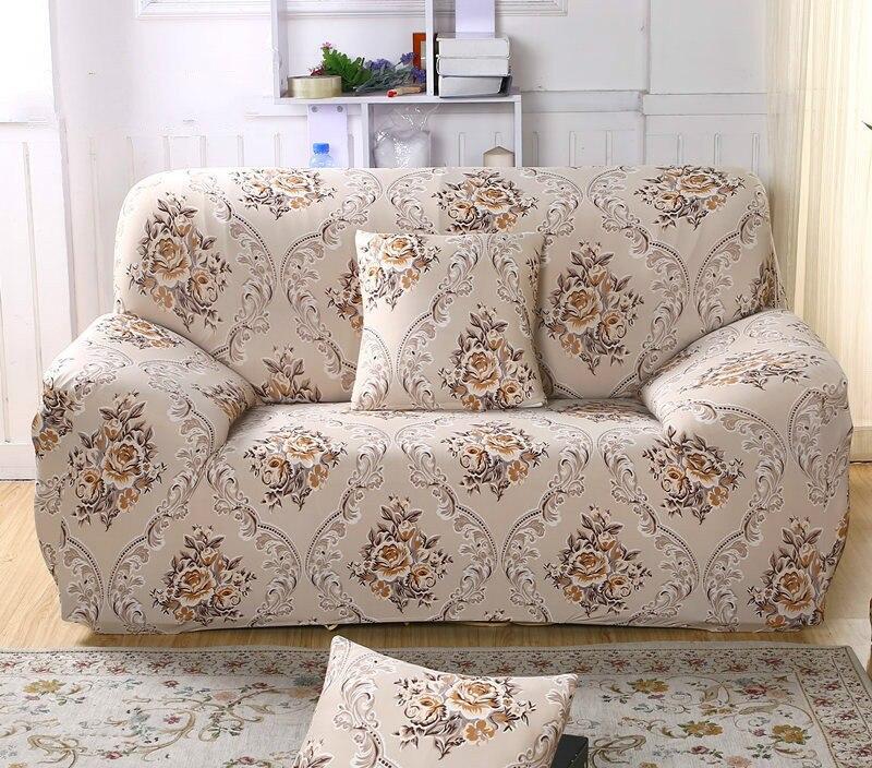 spandex stretch beige flower sofa cover big elasticity 100 polyester owl sofa furniture cover. Black Bedroom Furniture Sets. Home Design Ideas