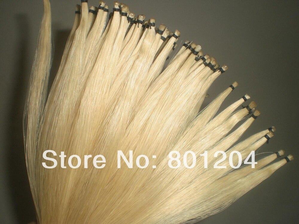 50 Hanks Qualità white Mongolia capelli arco in 32 pollici 6 grammi ciascuno