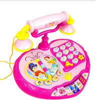 Large Size Princess Electronic Baby Phone Toy Kid Music Machine Telephone Toy With Game Educational Learning