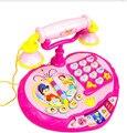 De gran tamaño de la princesa Electrónica bebé Kid Music Juguete teléfono Máquina de teléfono de juguete con Juego de Aprendizaje Educativo juguetes Mejor Regalo
