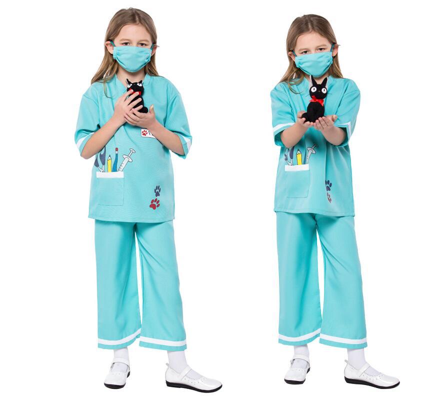 Enfants Médecin Vétérinaire Costume Cosplay Pour Garçons Filles Fête D'halloween Jeu Costume Cosplay M.L