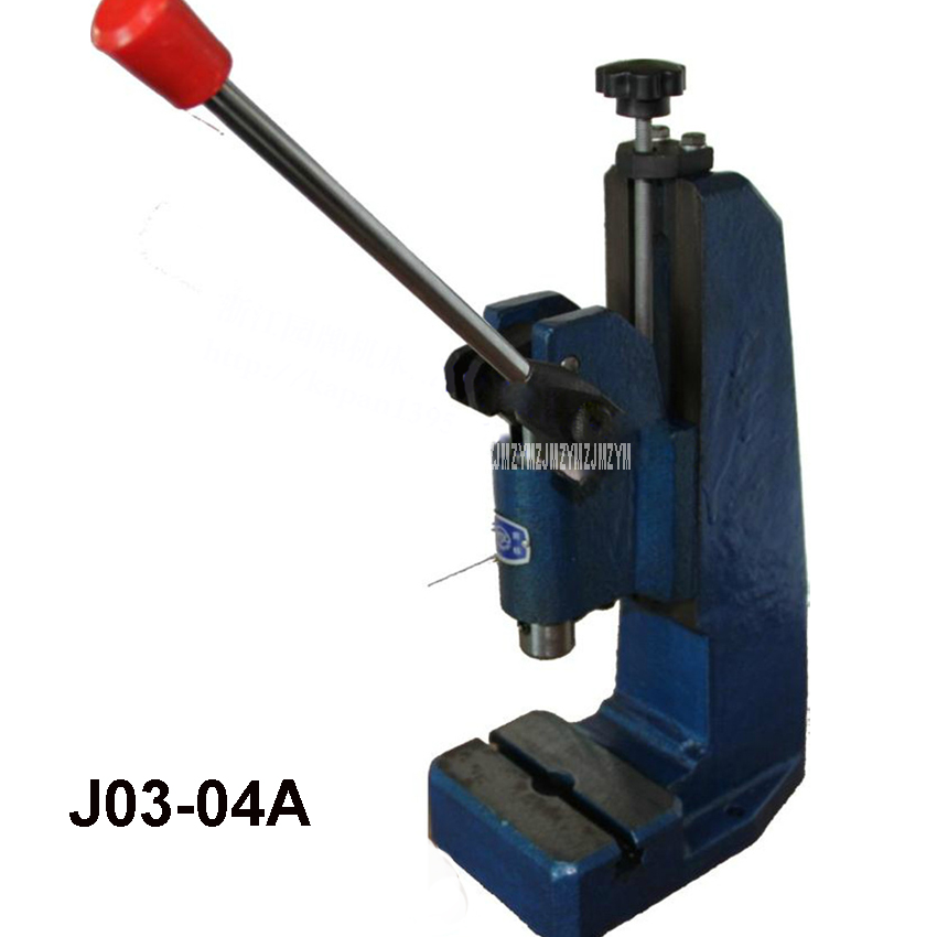 J03-04A precision manual press / hand pull punch,Maximum clamping height 175mm,Nominal pressure 4KN Manual Punching Machine computer intelligence racking machine