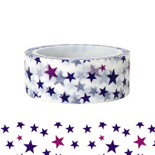 20pcs/set Blue Purple Romantic Lively Little Star Washi Tape Cute Children Puzzle DIY Decorative Stationery and Paper